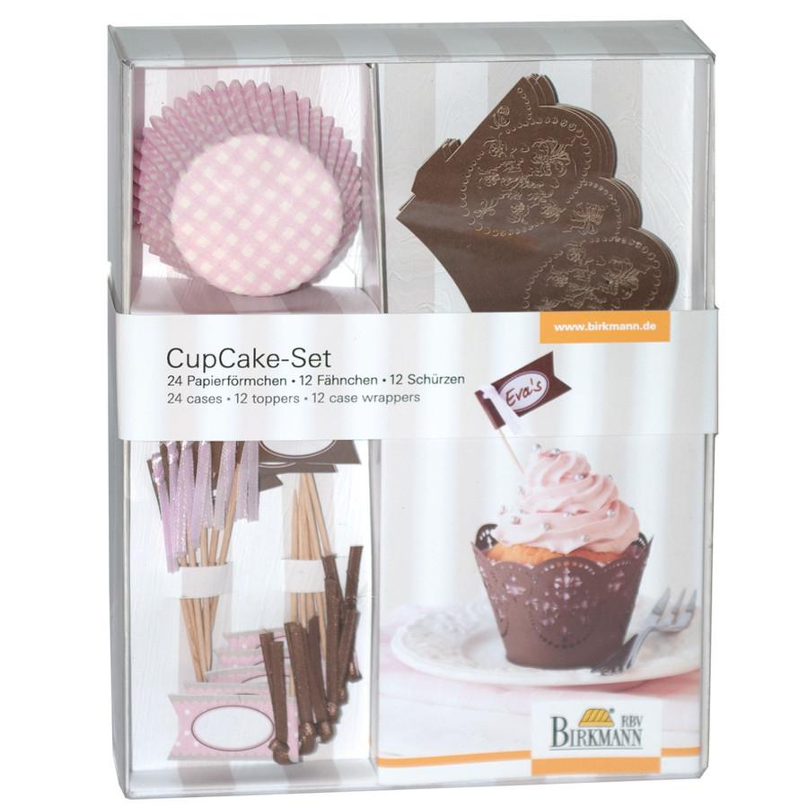 Douglas Home Zauberhafte Cupcakes Cupcake Deko-Set Schoko Rose