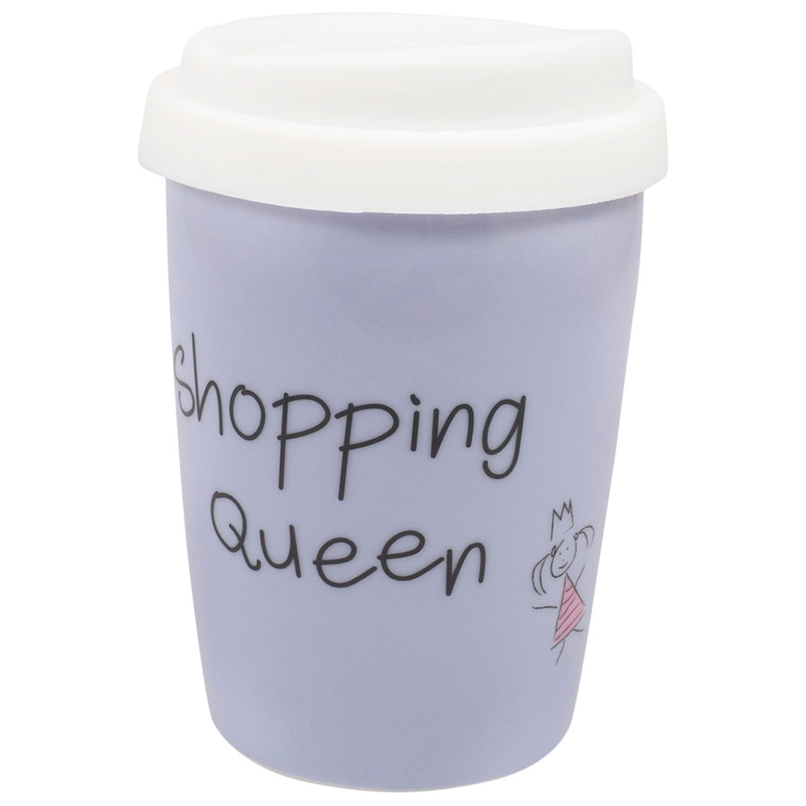 Coffee to Go Becher Shopping Queen