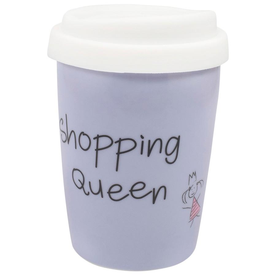 Coffee to Go Becher Shopping Queen