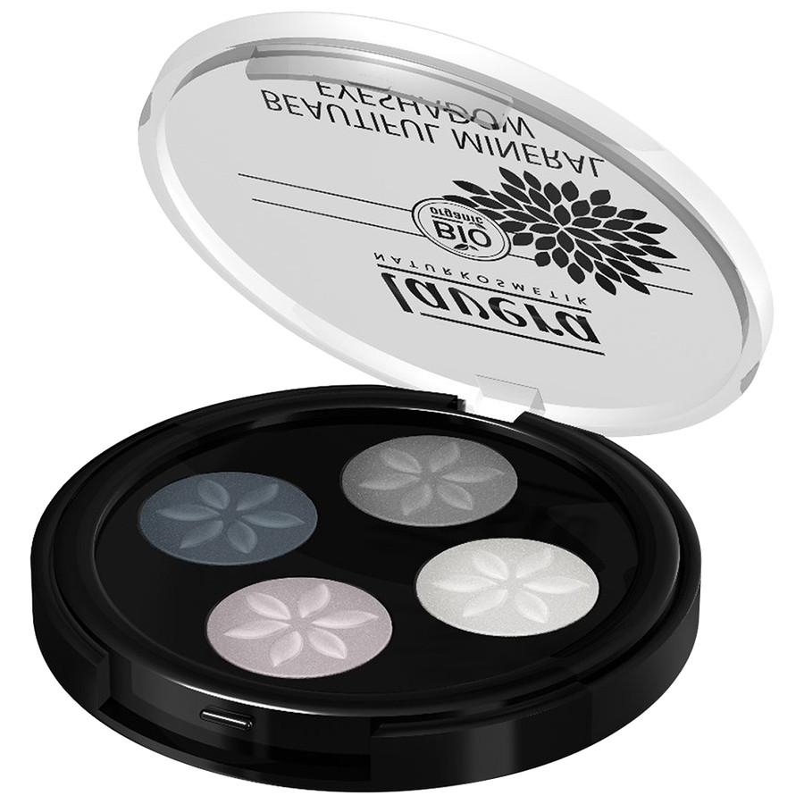 lavera Beautiful Mineral Eyeshadow Quattro <br> Nr.01 Smoky Grey