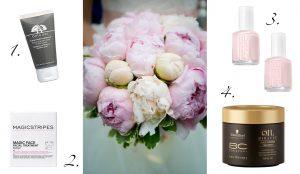 Peeling, Gesichtsmaske, Nagellack und Haarkur für den schönsten Tag im Leben