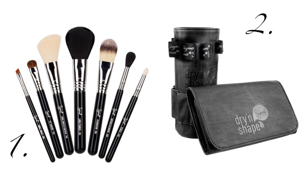 Sigma Beauty: 1. Travel Kit, 2. Dry'n Shape Pinselreiniger
