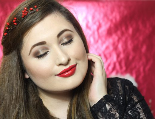 Christmas-Beauty-Look mit der the Balm-Familie