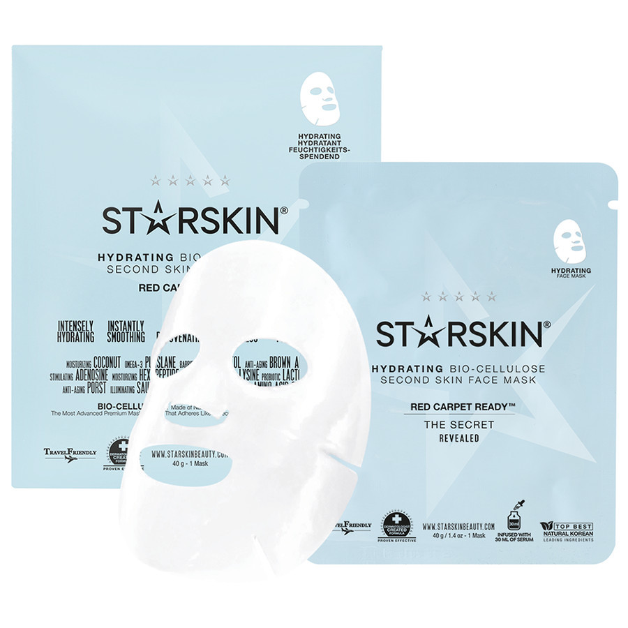 STARSKIN Red Carpet Ready Coconut Bio Cellulose Hydrating Face Mask