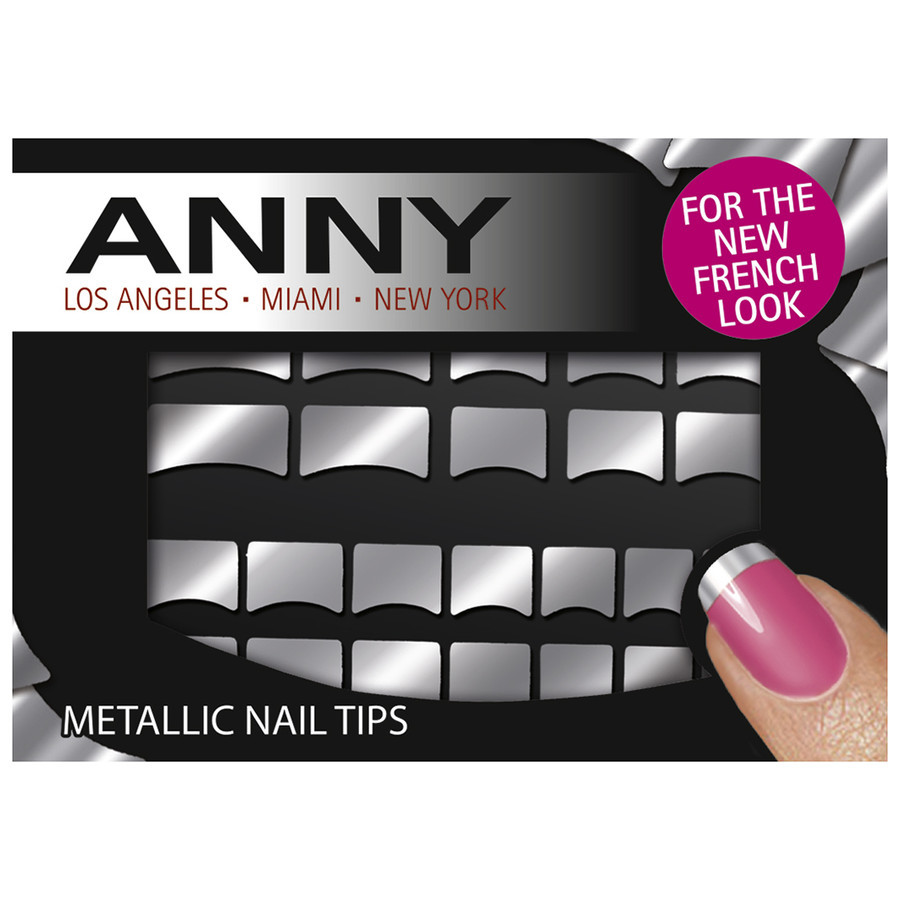 Anny Metallic Nail Tips Silber