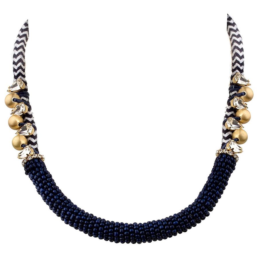 Elegante TOSH-Kette mit goldfarbenen Perlen