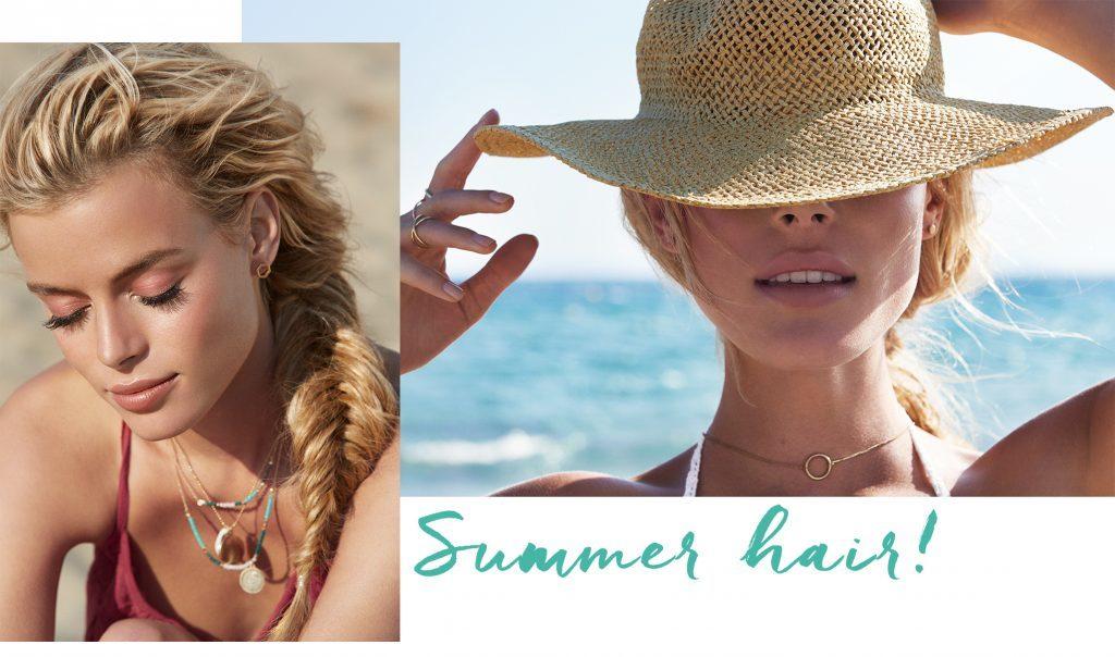 Haarstyles für den Strand