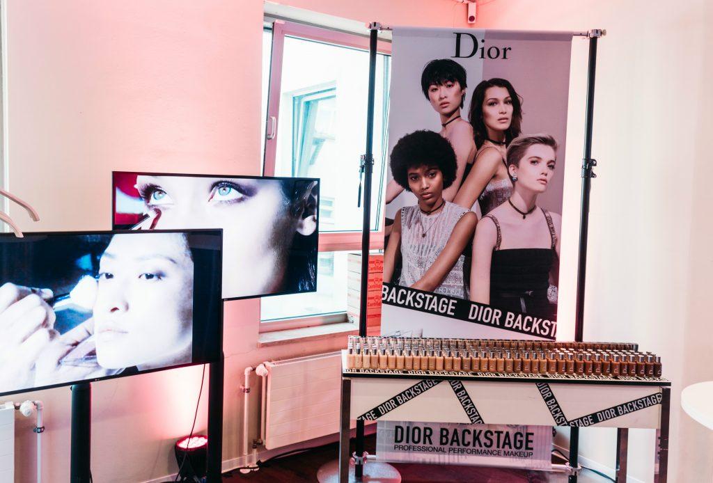 Dior Backstage Gesichter Ruth Bell, Manuela Sanchez, Chu Wong, Bella Hadid