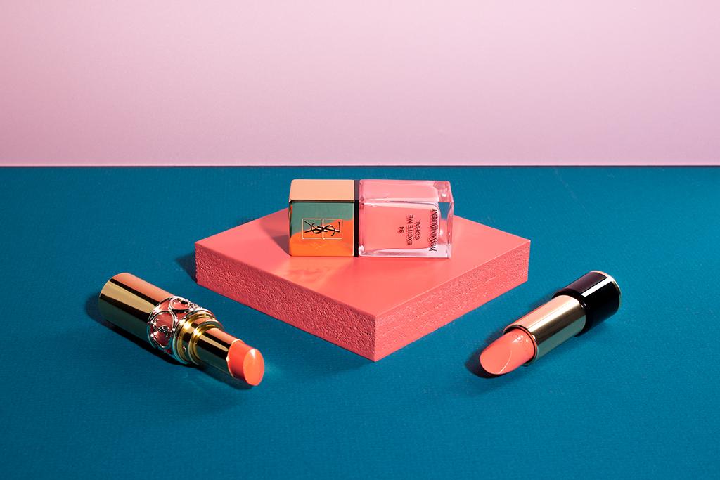Trendfarbe Koralle: Make-up